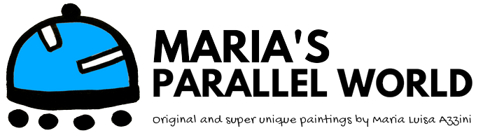 maria's parallel world logo, links to the homepage